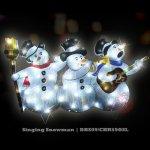 Singing Snowman Silhouette (DBS09/CHR59OSL All rights reserved)