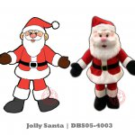 Jolly Santa Plush Toy (DBS05-4003 All rights reserved)